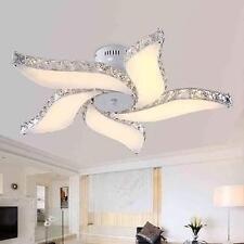 Gorgeous Flower Chandelier Living Room Ceiling Lamp Fixture Crystal LED  Light