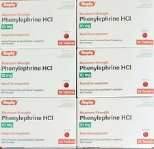 Rugby Sudogest Phenylephrine HCl 10 mg 36 Tablets -6 Boxes -Expiration 03-2023