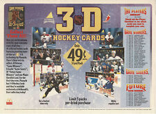 """1995-96 McDonald's """"State-of-the-Art 3-D"""" Hockey Cards In-Store Placemat"""