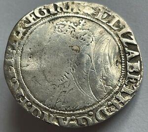 1560-61 Elizabeth I (1st) silver hammered shilling MM Martlet London Mint