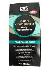 CVS ,7 in 1 complete daily moisturizer fragrance free anti-aging 1.7 fl oz/50 ml