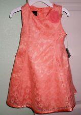 Holiday Editions Orange Pumpkin Girl's Sleeveless Spring Summer Dress Sz 3T NWT