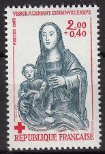 FRANCE TIMBRE NEUF N° 2296 ** VARIETE VIERGE A L ENFANTS GENAINVILLE CROIX ROUGE