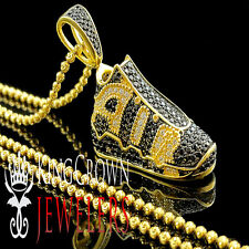 925 Silver 14k Yellow Gold Finish Lab Diamond Sneaker Shoes Star Pendant + Chain