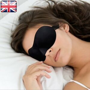 3D Eye Mask Soft Sponge Padded Travel Sleeping Blindfold Sleep Aid UK