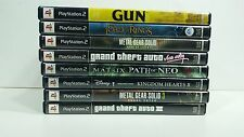 Playstation 2 PS2 Lot of 8 Games / GTA3 / GTA Vice City / Metal Gear Solid 2 & 3