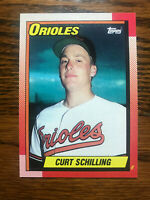1990 Topps #97 Curt Schilling Rookie Baseball Card RC Baltimore Orioles Raw
