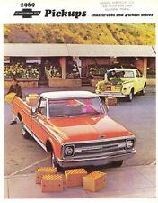 1969 Chevrolet Stepside Fleetwood Pickup Truck 4WD Campers Sales Brochure R-1