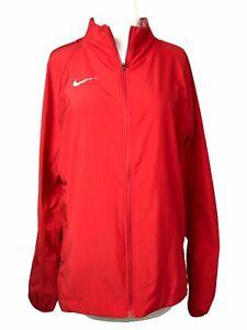 Large Nike Running Zip Neck Dri Fit Performance Red Jacket Womens