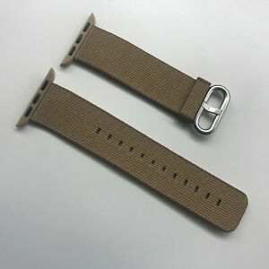 Original OEM Apple Watch Woven Nylon Band 38MM 40MM strap Toasted Coffee/Caramel