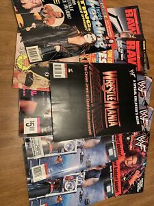 WWF Magazine Lot WWE Vintage Ecw Wcw 1999 2000 WrestleMania Raw Hero's Villains