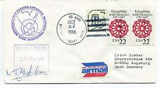 1988 New Zealand Antarctic Research Programme Ross Dependency Polar Cover SIGNED