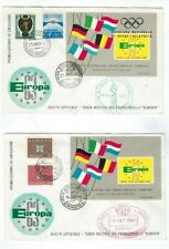 Two Naples Italy Europa with Two Different Special Large Souvenir Sports Label