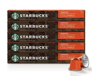 Starbucks by Nespresso Colombia Roast Espresso 50 Ct Single Serve Pods BBD 10/20