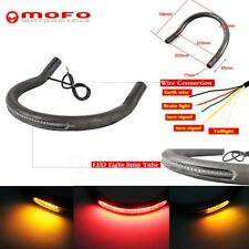 223MM Flat Loop Frame Hoop LED Stop Light For Honda CB Yamaha XS Suzuki GS 7/8""