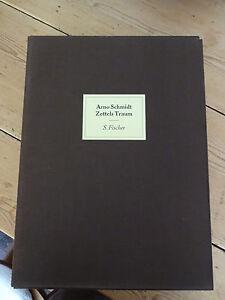 Arno Schmidt: Zettels Traum - 8 Hefte in Leinenschuber 1963 - 69