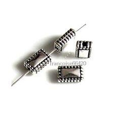 10 Intercalaires spacer Rectangle 10x6.5x4.5mm Perles apprêts créat bijoux _A321