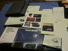 1993 BMW 525i 535i M5 525 535 i OWNERS MANUAL OWNER'S SET W/ CASE