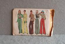 SIMPLICITY 5741 PATTERN Miss SIZE 12 CUT Vintage 1970s BLOUSE VEST PANTS