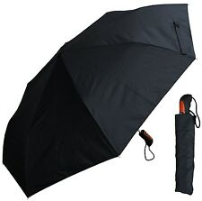 "46"" Black Auto-Auto Mini Umbrella - RainStoppers Rain/Sun UV Travel Car"