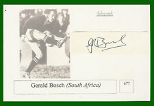 GERALD BOSCH SOUTH AFRICA SIGNED RUGBY PHOTO CARD