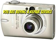 CANON SD500 or SD550 REPAIR SERVICE for your Digital Camera w/60 Day Warranty