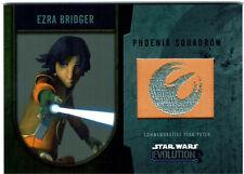 Star Wars Evolution 2016 Flag Patch Card Ezra Bridger Phoenix Squadron #12/25