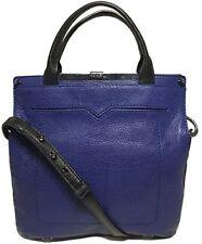 NWT Botkier Gansevoort Messenger Bag, Dark Cobalt/Black Color, MSRP: $448.00