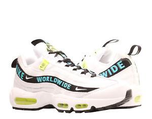 Nike Air Max 95 SE White/Blue Fury-Volt-Black Men's Running Shoes CT0248-100
