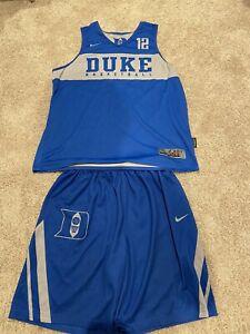 Javin Delaurier 18-19 Game Used Duke Basketball Practice Jersey Shorts