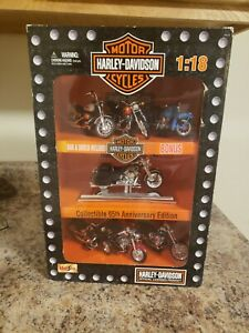 Maisto Harley-Davidson Collectible 95th Anniversary Edition Motorcycle Set 1:18