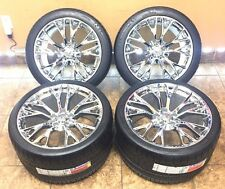 "19"" 20"" Inch Staggered OEM Corvette Z06 Wheels Rims Michelin Tires Chrome 4-Set"