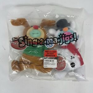 NEW 2011 Fisher Price Sing-a-ma-jigs Christmas Snowman & Reindeer , Sealed