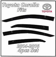 2014-2016 Toyota Corolla For Window Shield Visor Shade Rain Guard Deflector 4PC
