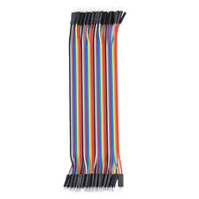 20cm 40P Universal Dupont Line Cable Male to Male Jumper Copper Wire Arduino New