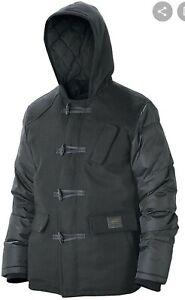 Nixon Summit Wool Hooded Puffer Insulated Jacket Mens XL Black Urban Winter Coat