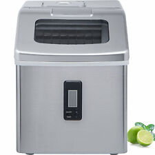Ice Maker Machine Stainless Steel Portable Countertop 48Lbs/24H Crystal Ice Cube