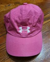 Youth Girls Pink Under Armour Adjustable Hat