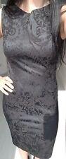 HUGO Kleid Etuikleid * schwarz * Gr. 34 * Tigeroptik *