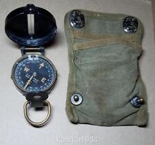 WW2 ERA US ARMY ENGINEERING TYPE COMPASS W. & L.E. GURLEY & ORIGINAL POUCH