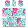 2 Sheets Nail Art Water Transfer Decal Manicure Sticker Elegant Leaves Theme