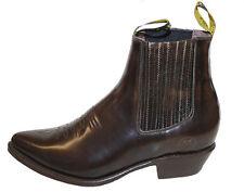 Men's cowboy boots genuine leather short ankle western JToe design boots