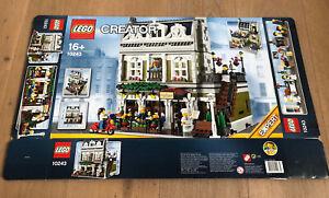 LEGO 10243 Creator Pariser Restaurant Leerkarton/Box/Ovp NEU