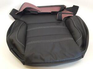 16-18 GMC Sierra Denali black leather Driver side Seat bottom Cushion Cover OEM