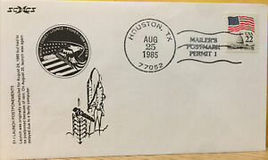 EARLY US SPACE SHUTTLE COVER ; SCCS CACHET ST-1 POSTPONEMENTS 1985