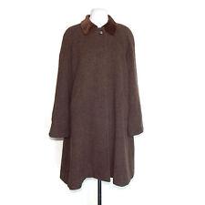 Vtg Cinzia Rocca Brown Wool Alpaca Pea Coat Trench Jacket  Size 6 - 42