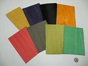 1 Lot Of 8pcs Miscellaneous Dyed Raw Veneer Shorts, Lot #4918