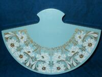 Merle Norman Eye Fantasy FAN shaped Case Vintage Collectible Blue Gold White