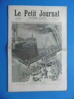 """LE PETIT JOURNAL n°137 daté de 1893 - LA CATASTROPHE DU """"VICTORIA - SAINT AIL"""