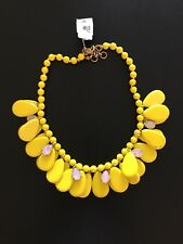 J Crew Yellow Tear Drop Statement Necklace